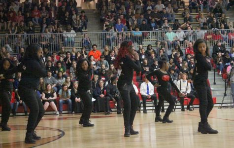 JCHS step team gets into formation