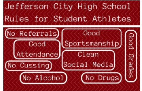 JCHS Rules for Student Athletes