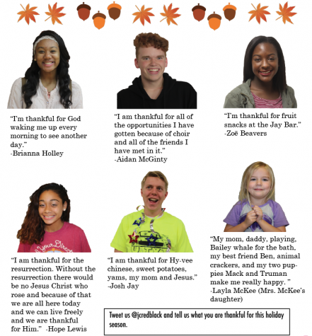 JCHS family gives thanks this holiday season