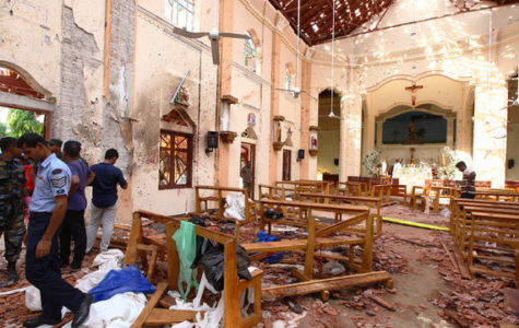 An image of one of the  churches devastated in Sri Lanka